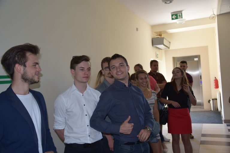 Students of State Higher Vocational School in Tarnow visiting the Economic Activity Zone.